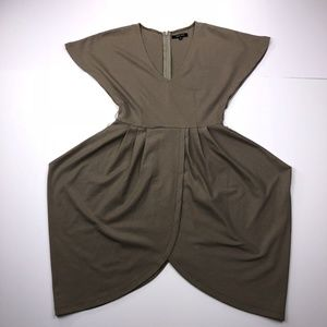 Crystal Candy Size Small Brown V Neck A Line Dress
